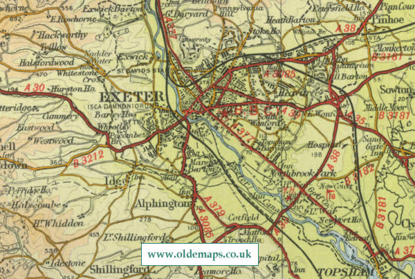 Map Of Uk Exeter.Exeter Map