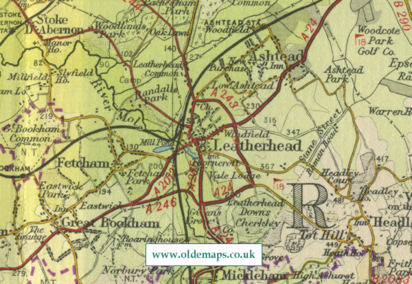 Leatherhead Map