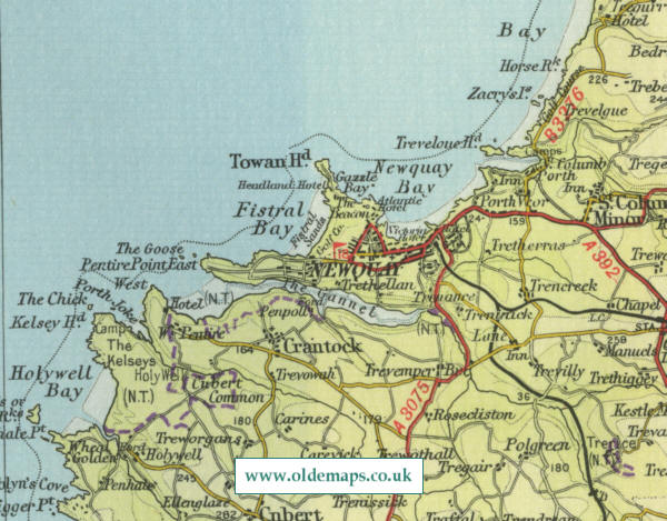 Map Of Newquay Newquay Map