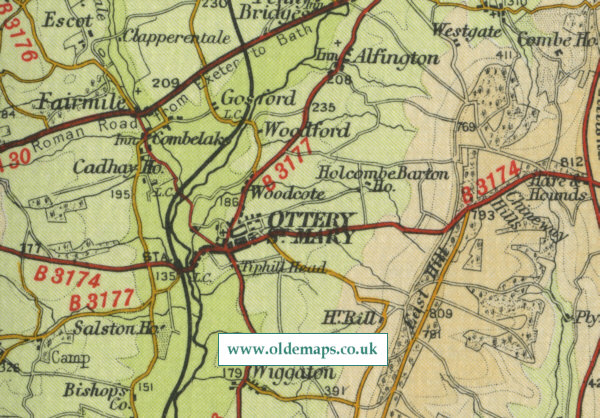 Ottery St Mary Map