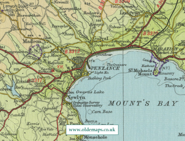 Penzance Map