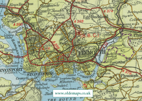 Map Of England Plymouth.Plymouth Map