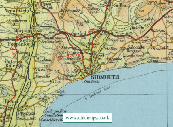 Sidmouth Map