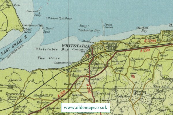 Whitstable Map