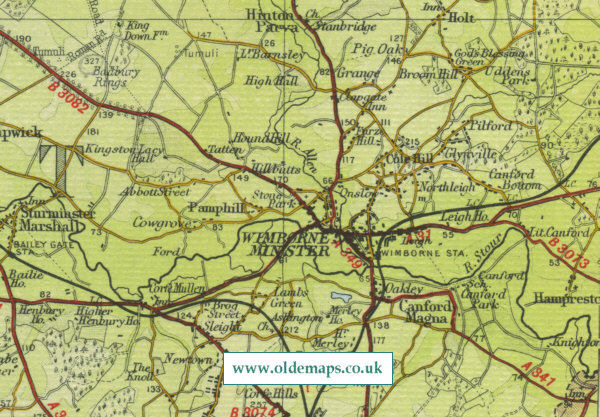 Wimborne Minster Map