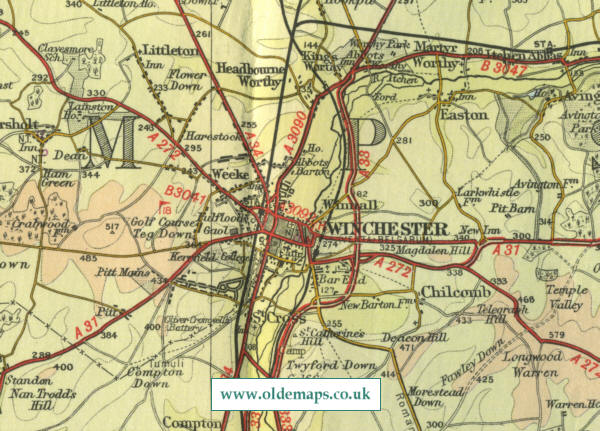 Winchester uk map