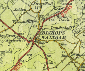 Bishop's Waltham Map