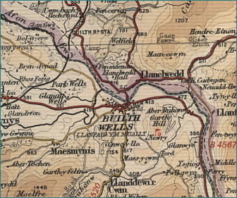 Builth Wells Map