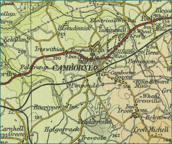 Camborne Map