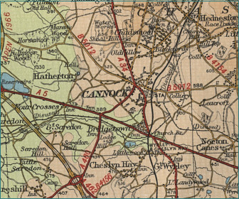 Cannock Map