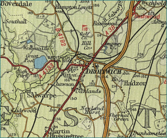 Droitwich Map
