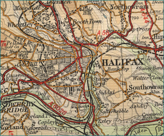 Map Of England Halifax.Halifax Map