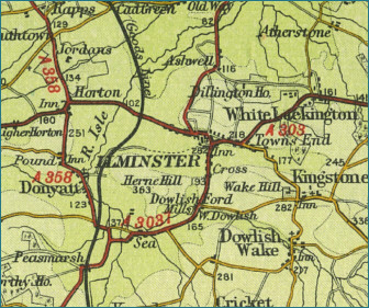 Ilminster Map