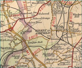 Kirkby in Ashfield Map
