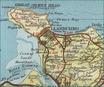 Map Of Llandudno Llandudno Map