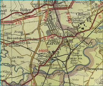 Long Eaton Map