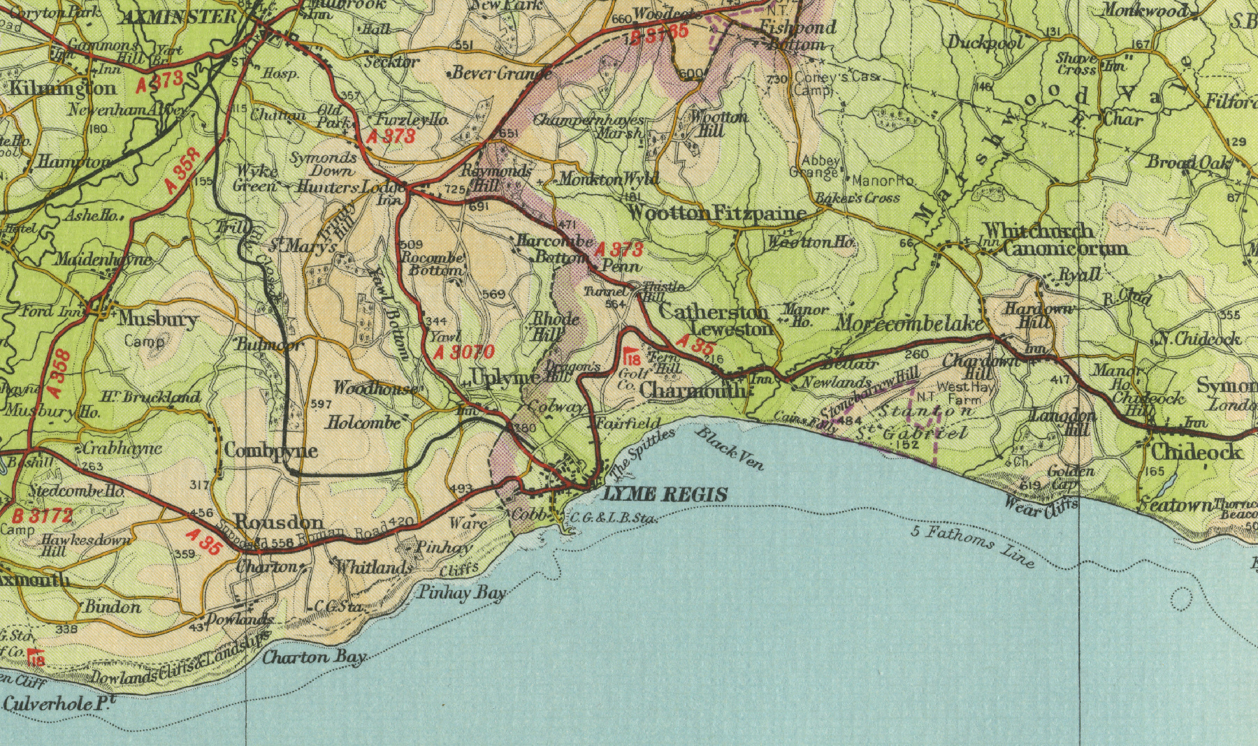 1960s as well Photo792046 additionally Photo171769 moreover Id F 757687 likewise Lyme Regis Map. on mid century spanish s