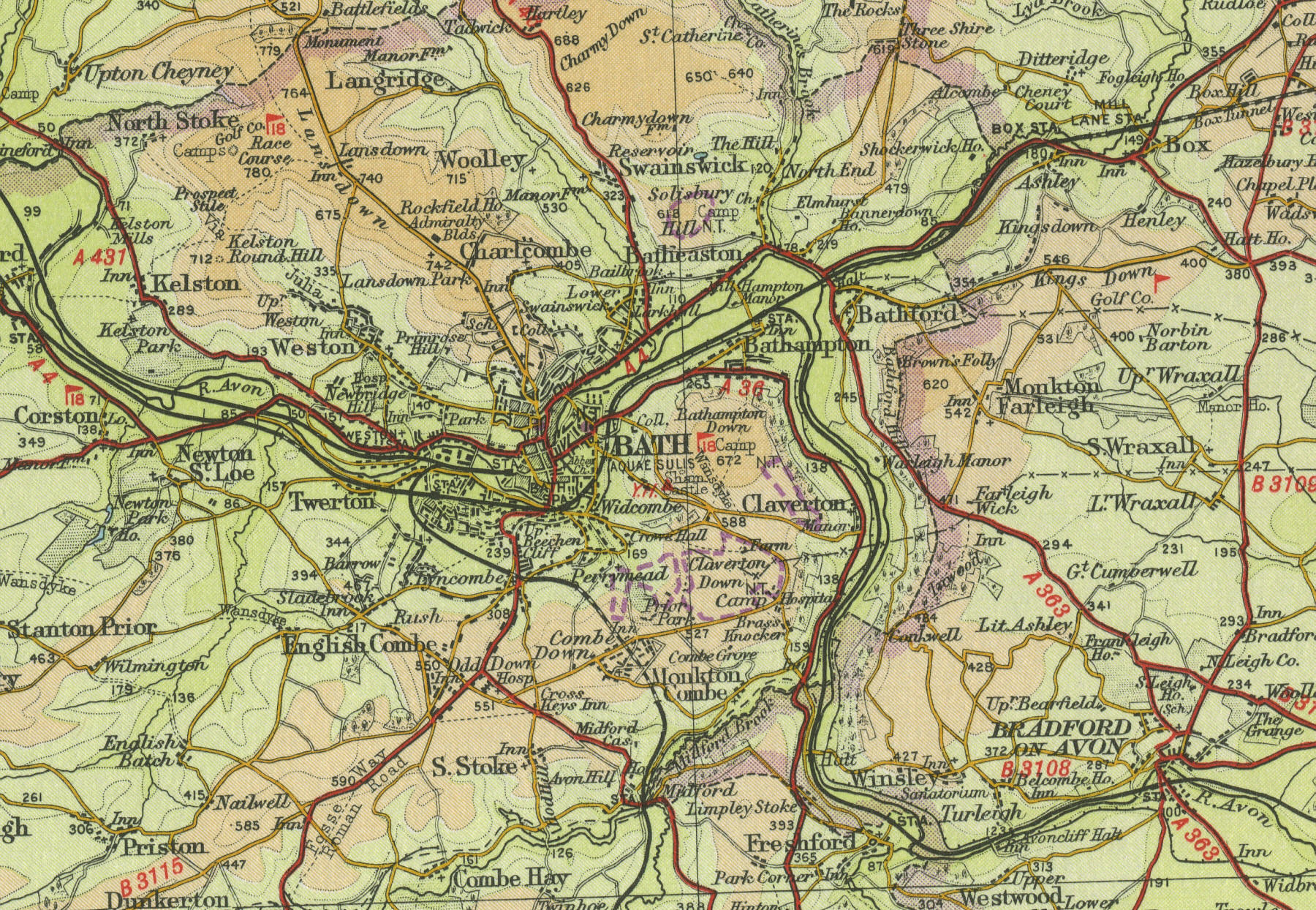 Bath Spa Station Map