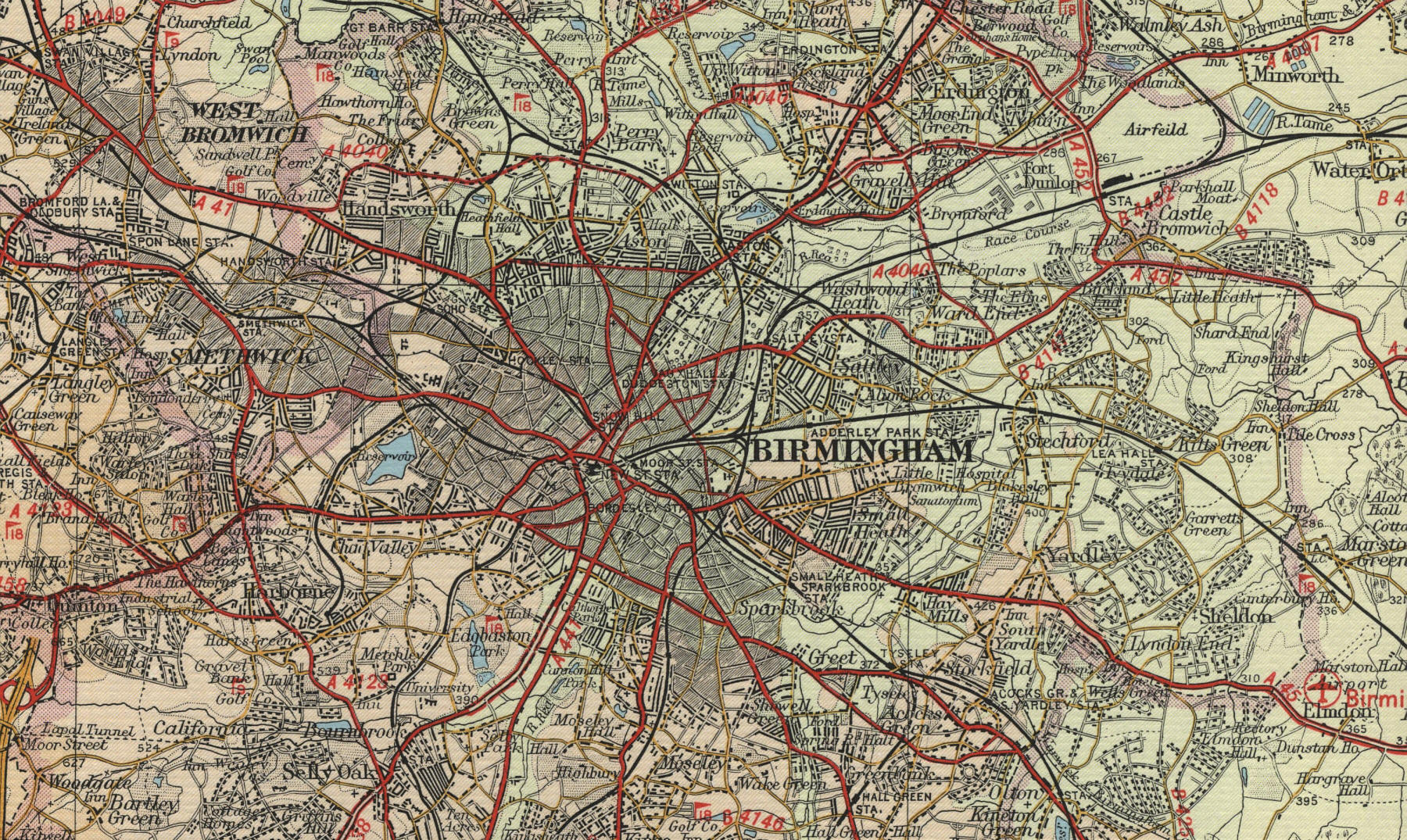Map Of Birmingham England