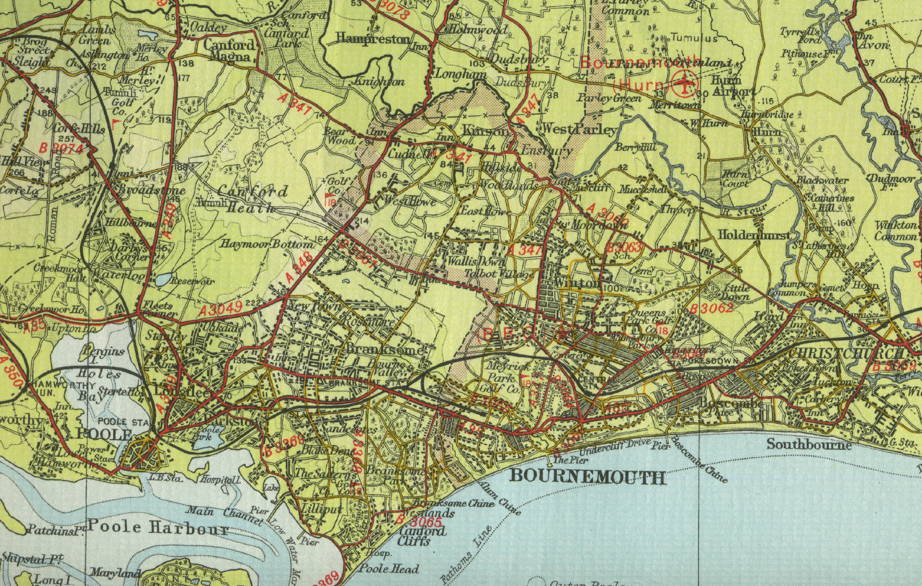 bournemouth town mapjpg map bournemouthjpg