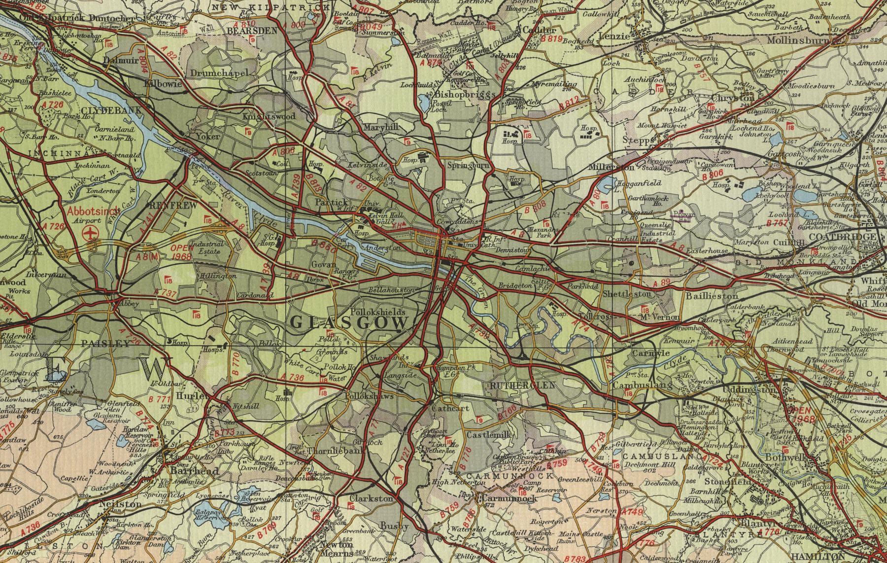Glasgow Height Map