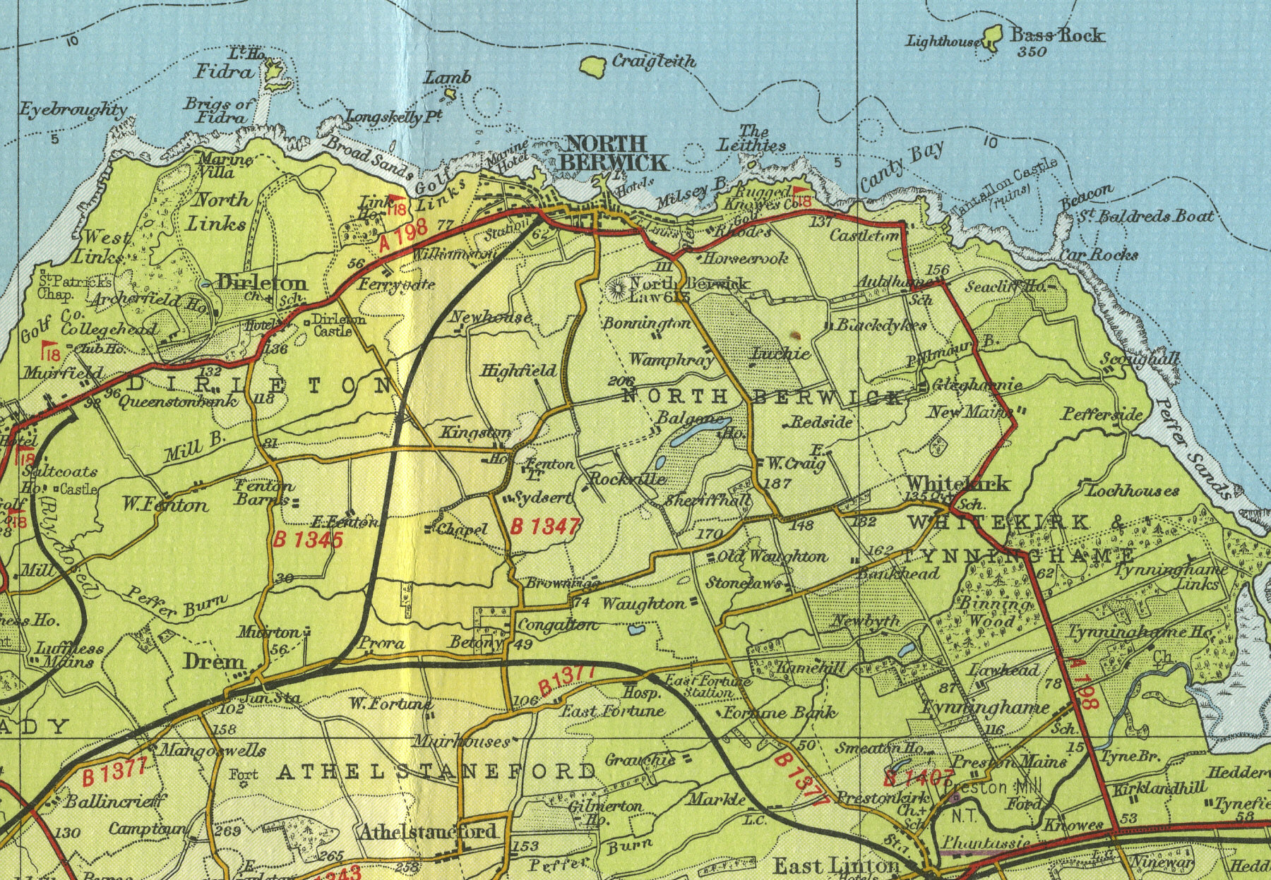 North Berwick Map