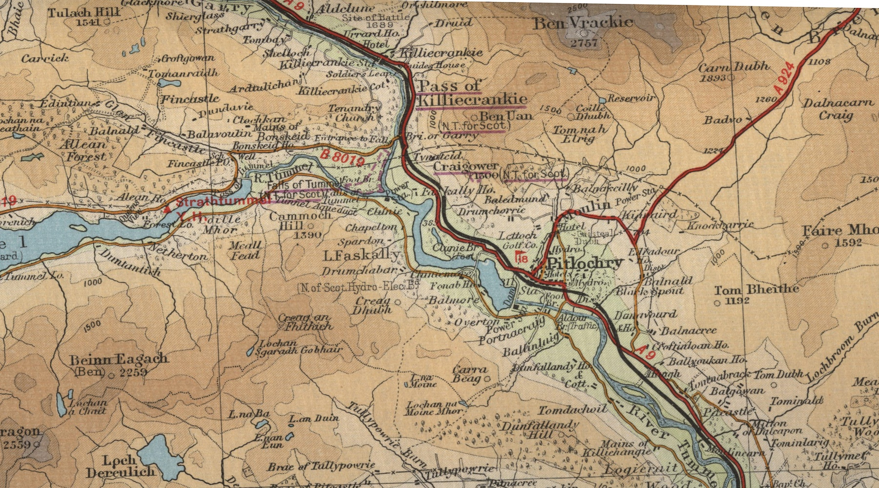 Pitlochry Scotland Map.Pitlochry Map