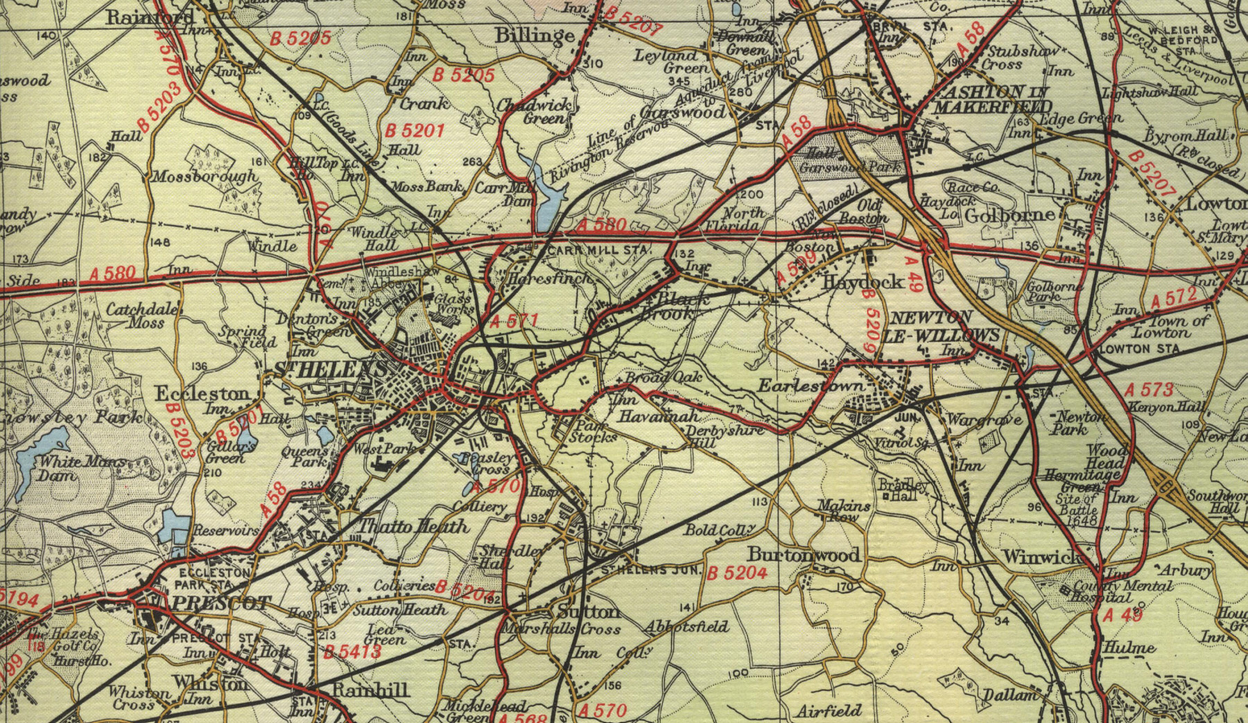 St Helens Map