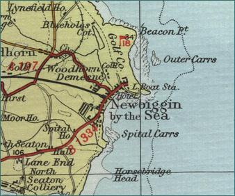 Newbiggin Map