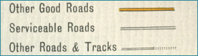 Old Maps Key - Roads and Tracks