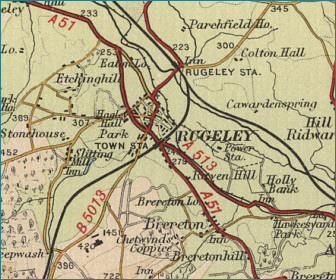 Rugeley Map