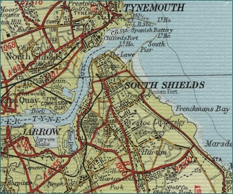 South Shields Map