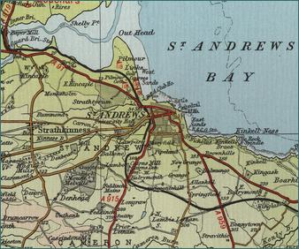 St Andrews Map