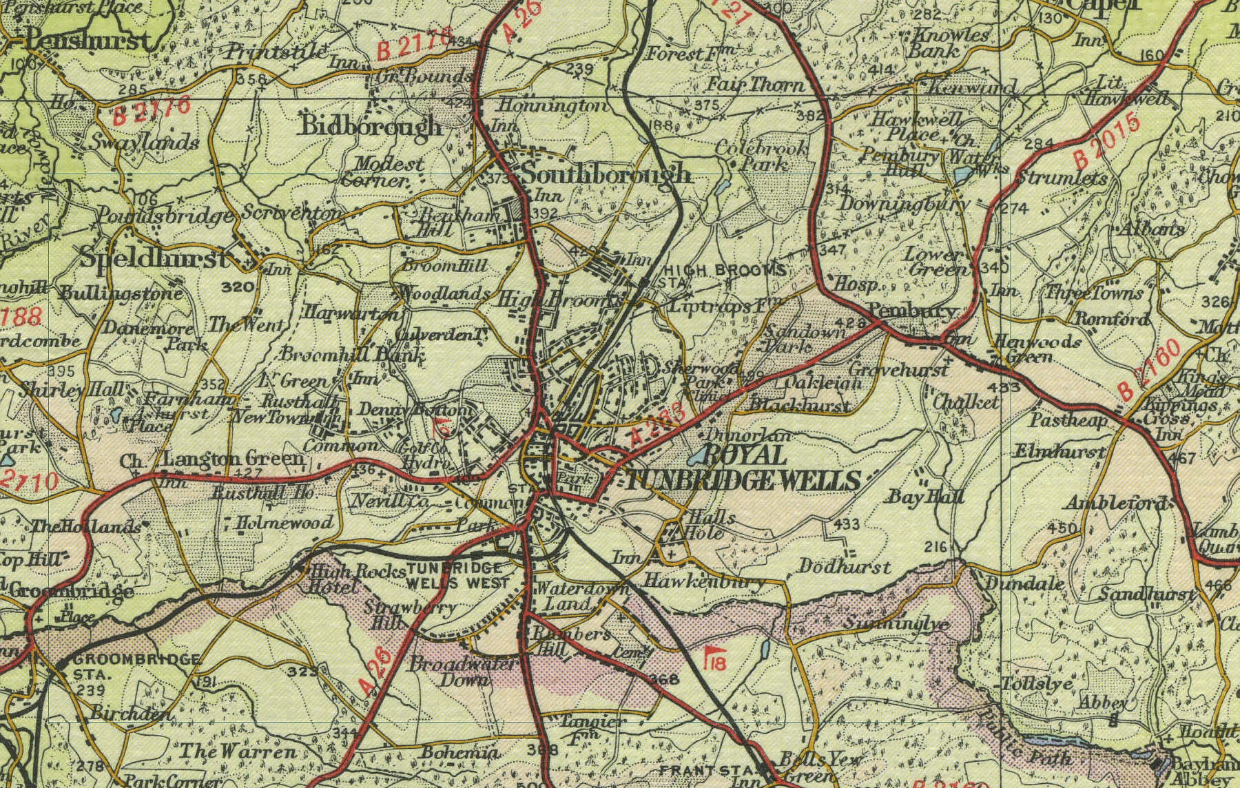 Tunbridge Wells Map Tunbridge Wells Map