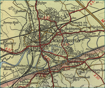 Warrington Map