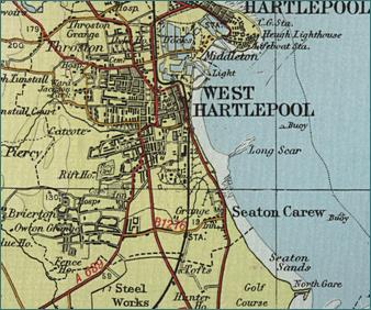 West Hartlepool Map