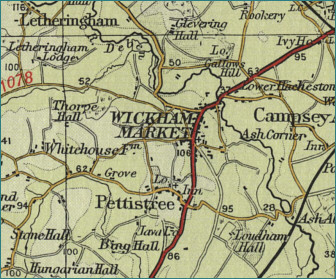 Wickham Market Map