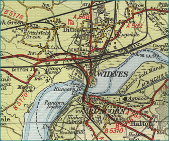 Widnes Map