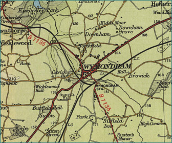 Wymondham Map
